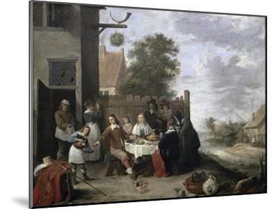 Family Meal-Jan Havicksz^ Steen-Mounted Giclee Print