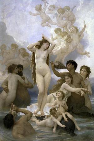 Naissance de Venus-William Adolphe Bouguereau-Stretched Canvas Print