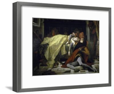 Death of Francesca de Rimini and Paolo Malatesta-Alexandre Cabanel-Framed Giclee Print