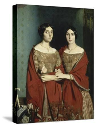 Les Deux Soeurs-Théodore Chasseriau-Stretched Canvas Print