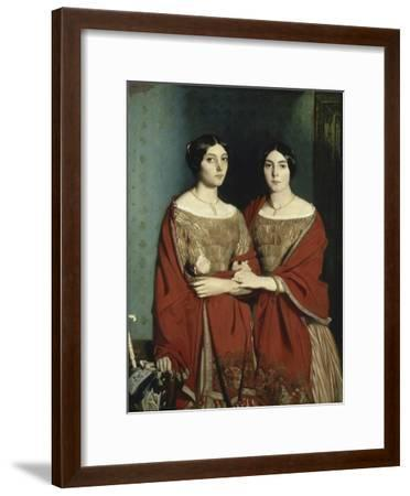 Les Deux Soeurs-Théodore Chasseriau-Framed Giclee Print