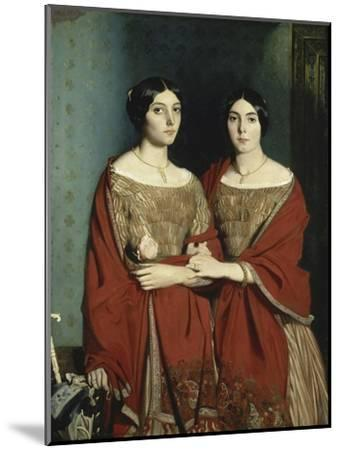 Les Deux Soeurs-Théodore Chasseriau-Mounted Giclee Print