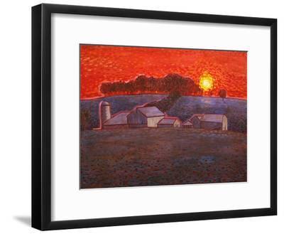 Snowy Farm-John Newcomb-Framed Giclee Print