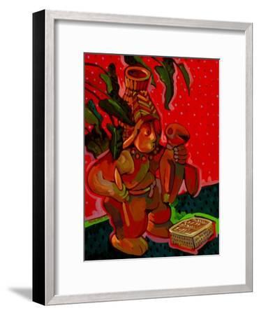 Aztec Hunter-John Newcomb-Framed Giclee Print