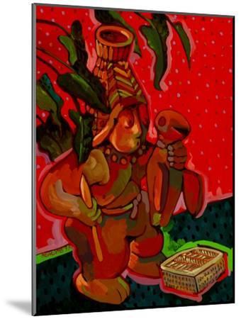 Aztec Hunter-John Newcomb-Mounted Giclee Print