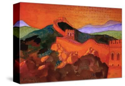 Great Wall of China-John Newcomb-Stretched Canvas Print