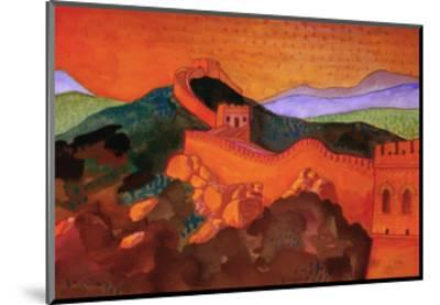 Great Wall of China-John Newcomb-Mounted Giclee Print