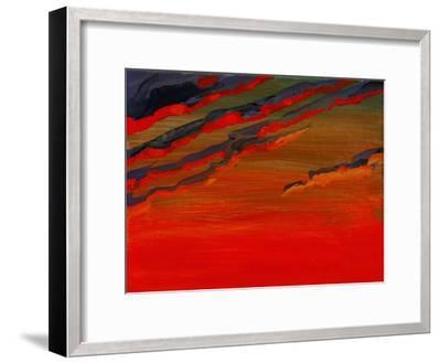 Sky Portrait of a Sunset-John Newcomb-Framed Giclee Print