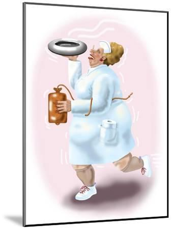 The Bedpan Nurse-Linda Braucht-Mounted Giclee Print