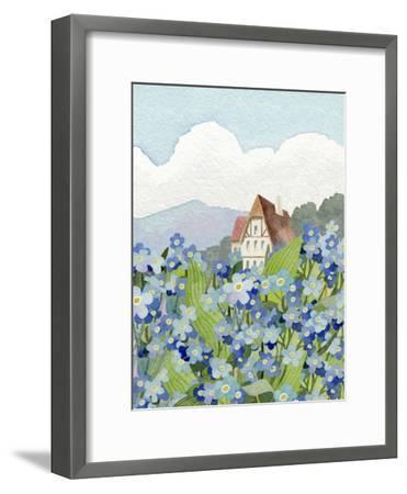 Forget-Me-Not Cottage-Linda Braucht-Framed Giclee Print