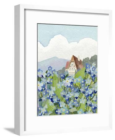 Forget-Me-Not Cottage-Linda Braucht-Framed Giclee Print