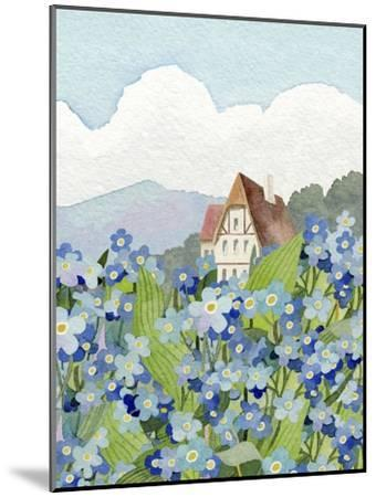 Forget-Me-Not Cottage-Linda Braucht-Mounted Giclee Print