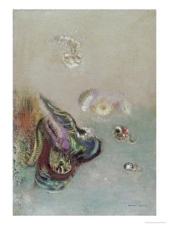 Abstract Scene-Odilon Redon-Framed Giclee Print