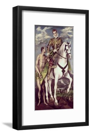 Saint Martin and the Beggar-El Greco-Framed Giclee Print