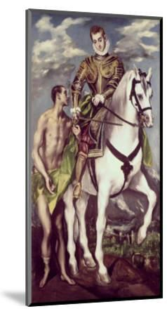 Saint Martin and the Beggar-El Greco-Mounted Giclee Print