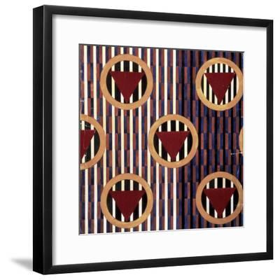 Red Triangles in Round-Liubov Sergeevna Popova-Framed Giclee Print