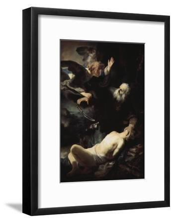 Abraham's Sacrifice-Rembrandt van Rijn-Framed Giclee Print