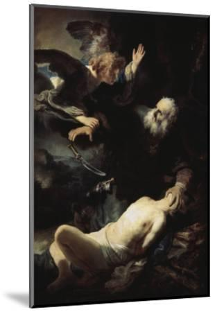 Abraham's Sacrifice-Rembrandt van Rijn-Mounted Giclee Print