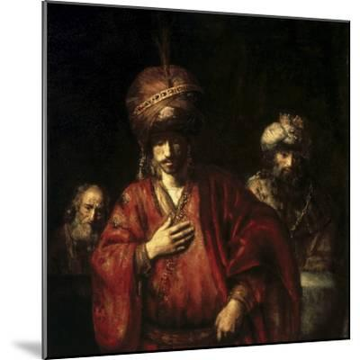 David and Uriah-Rembrandt van Rijn-Mounted Giclee Print