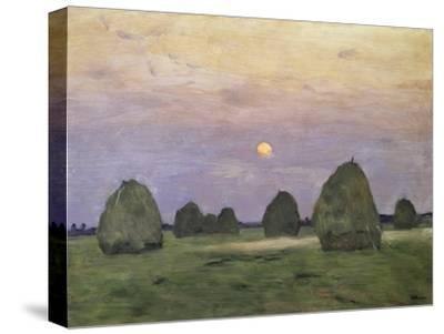 Bundles of Hay at Twilight-Isaak Ilyich Levitan-Stretched Canvas Print