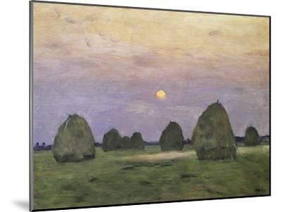 Bundles of Hay at Twilight-Isaak Ilyich Levitan-Mounted Giclee Print
