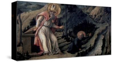 Vision of Saint Augustine, c.1452-1465-Filippo Lippi-Stretched Canvas Print