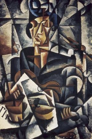 Lady with the Guitar-Liubov Sergeevna Popova-Stretched Canvas Print