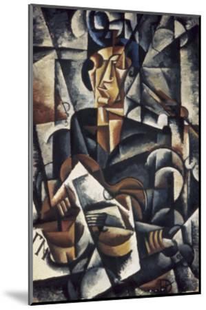 Lady with the Guitar-Liubov Sergeevna Popova-Mounted Giclee Print