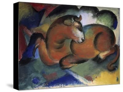 Red Bull, Aun Taureau Rouge-Franz Marc-Stretched Canvas Print