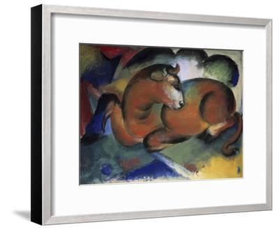 Red Bull, Aun Taureau Rouge-Franz Marc-Framed Giclee Print