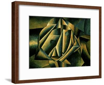 Face of a Peasant Girl, c.1912-Kasimir Malevich-Framed Giclee Print