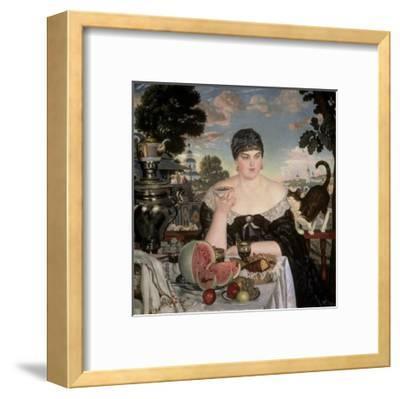 Merchant's Wife Having Tea-B^ M^ Kustodiev-Framed Giclee Print