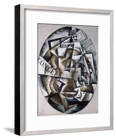 Violin-Liubov Sergeevna Popova-Framed Giclee Print