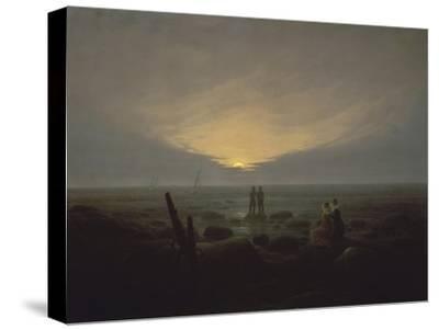 Moonrise over the Sea, c.1821-Caspar David Friedrich-Stretched Canvas Print