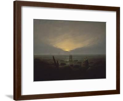 Moonrise over the Sea, c.1821-Caspar David Friedrich-Framed Giclee Print