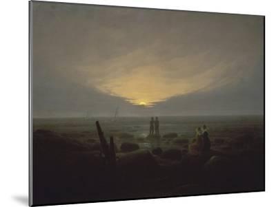 Moonrise over the Sea, c.1821-Caspar David Friedrich-Mounted Giclee Print