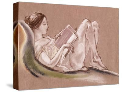 Reclining Woman-Arthur Bowen Davies-Stretched Canvas Print