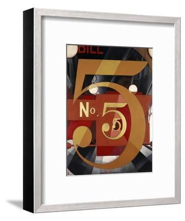 I Saw the Figure 5 in Gold-Charles Demuth-Framed Premium Giclee Print
