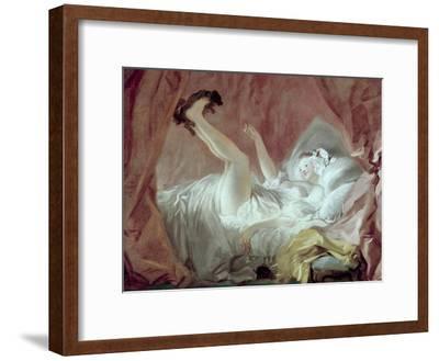 La Giambette-Jean-Honor? Fragonard-Framed Giclee Print