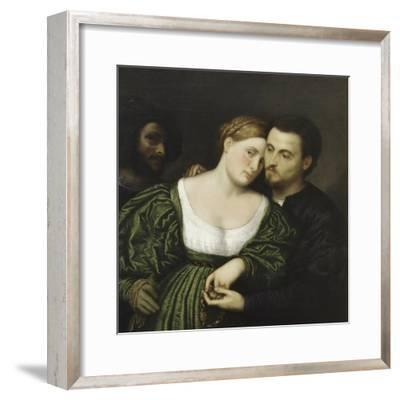 The Venetian Lovers-Paris Bordone-Framed Giclee Print