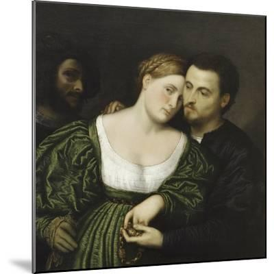 The Venetian Lovers-Paris Bordone-Mounted Giclee Print