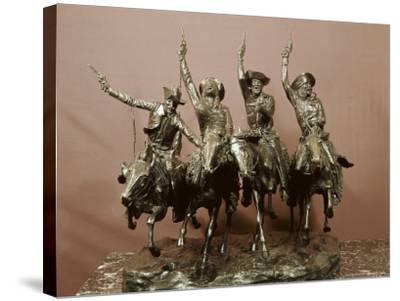 Cowboy Sculpture-Frederic Sackrider Remington-Stretched Canvas Print