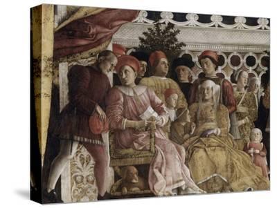 Detail of Camera Degli Sposi: the Court-Andrea Mantegna-Stretched Canvas Print