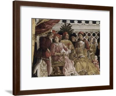 Detail of Camera Degli Sposi: the Court-Andrea Mantegna-Framed Giclee Print