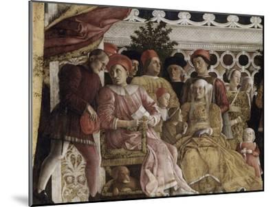 Detail of Camera Degli Sposi: the Court-Andrea Mantegna-Mounted Giclee Print