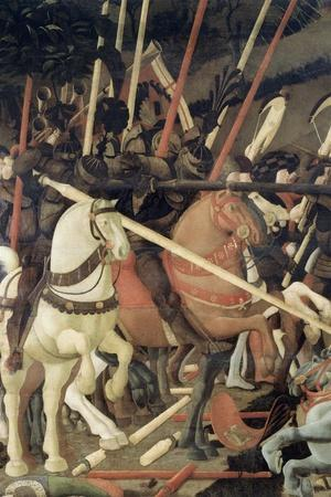 Battle of San Romano-Paolo Uccello-Stretched Canvas Print