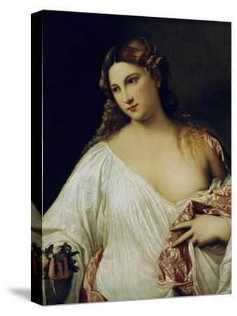 Flora-Titian (Tiziano Vecelli)-Stretched Canvas Print