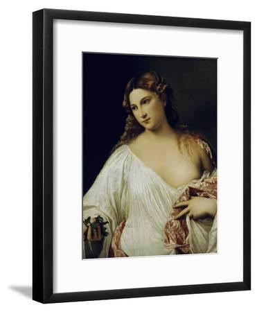 Flora-Titian (Tiziano Vecelli)-Framed Giclee Print