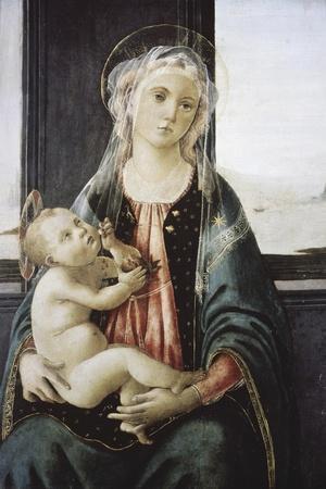 Madonna Del Mare-Sandro Botticelli-Stretched Canvas Print