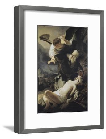 The Sacrifice of Isaac-Rembrandt van Rijn-Framed Giclee Print